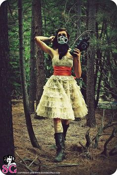 Boomie in Betsey Johnson...this is such a creepy picture. but I'm in love with the dress