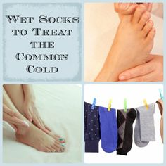 Wet Sock Treatment For Colds and Flu - Use to create circulation within the body and bring down fever, stop cough, relieve flu symptoms, etc...