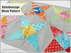 Kaleidoscope Block Template - Ellison Lane- paper pieced