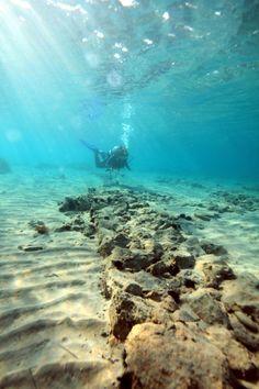 greece ruins, ancient mysteries, bucket list, ancient histori, travel bucket, treasur ancient, ancient atlantis, ancient place, underwat treasur