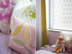 lovely color scheme of cool pink/ lavender with yellow