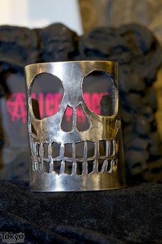 Alice Black Silver Skull Bracelet
