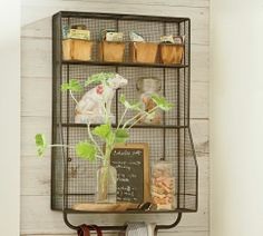 Wall Mount Storage Organizer.  I want this for my bathroom.