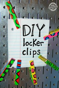 Love this DIY locker clip project for kids - great middle school craft and fun upcycle!