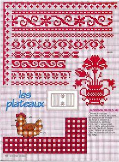borduren, crossstitch, bordado, 886, cross stitch borders