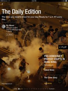 Protests erupt in Hong Kong, Obama's ISIS admission and Clooney wedding photos. Check out today's edition: flip.it/dailyedition
