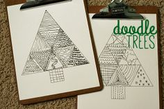 Download this Doodle Tree Printable for kids to color @MakeandTakes.com.com
