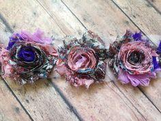 Printed Shabby Flowers Chiffon Shabby Flower by FeeFeesSplendor