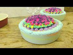 Making and Cutting Black Raspberry Alaska Soap Cake by Edens Secret