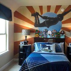 Btm room on pinterest skateboard room skateboard for Boys skateboard bedroom ideas