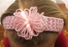 Loom knitted baby headband