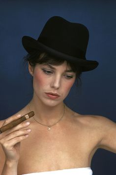 Jane Birkin, 1974 peopl, icon, cigar, 1974, inmort inspir, beauti, portrait, hat, jane birkin