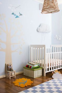 Whimsical modern nursery design - sweet and simple