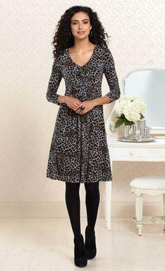 Instinctual Style: Twist Front Dress in Cheetah Print #SomaIntimates