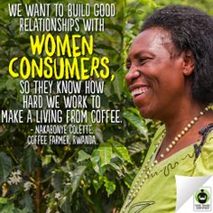 With Fair Trade, #women are empowered to be business leaders. Pin to show your support for Nakabonye, a strong woman of #FairTrade! #womensempowerment #coffee