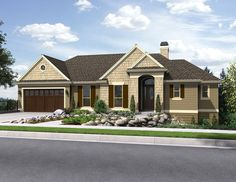 If you have a sloping lot and need a daylight basement you'll want to check out this new craftsman #houseplan featuring just under 3,200 sq.ft with a depth of only 42 feet. A large master suite occupies the right wing of the first floor, while two bedrooms and a large recreation room highlight the second floor. Tell us what you think of this new home? Plan Packages start at $950. http://www.thehousedesigners.com/plan/the-tumalo-5205/