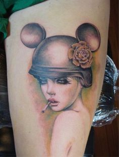 Quirky beautiful tattoo by Chris Nieves