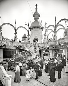 The Helter Skelter, Coney Island, ca. 1905