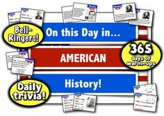 ** Save 28% with the BTS Sale **   On This Day in American History! 365 Days of Daily Warmups, Bell Ringers, and History Trivia!