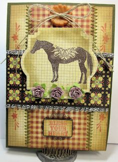 Card by Gini Williams Cagle using stamps from the Craft's Meow, Spellbinders, May Arts Ribbon, Graphic 45 papers