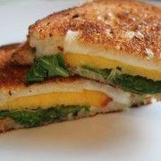 Peach, Arugula & Mozzarella Grilled Cheese | Live Pretty