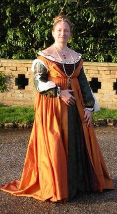 A Venetian Gown in the style of 1495-1505