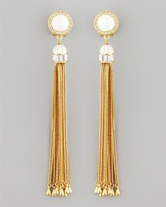 Showcasing the designer's antique-meets-au courant aesthetic, these swinging Rachel Zoe earrings are for the woman with spirited, yet sophisticated, style.