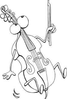 free cello coloring pages - photo#11