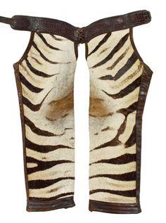 F M Koontz Wild West Show Zebra Chaps