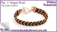 Flat V shaped braid bracelet