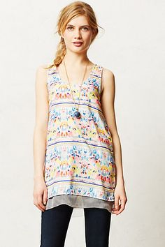 Washed Posy Tank #anthropologie