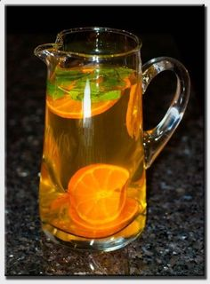 So, everyone is buzzing about this great green tea recipe that Dr. Oz has provided that is supposed to be completely natural, help boost your metabolism and help you to naturally lose weight. . You will need:  8 cups brewed green tea  1 tangerine  Mint leaves  just a small handful Just mix the ingredients together and keep in the refrigerator until use.