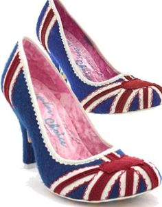 Union Jack shoes from Irregular choice