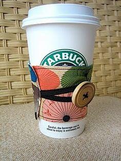 Coffee cozy (FREE!) pattern.