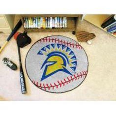 """San Jose State Spartans Baseball Rug 29"""" Diameter"""