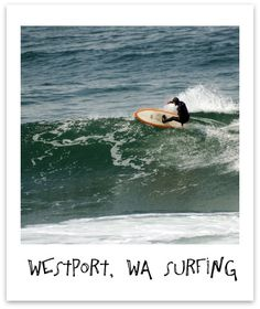 Surfing Westport, Washington