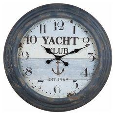 Weathered nautical wall clock