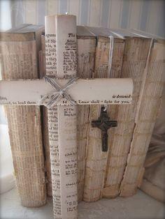 Pretty book page cross