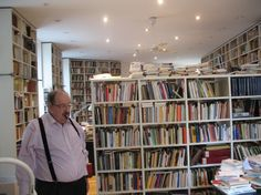 Umberto Eco, in his Milan library (30,000 volumes). His Rimini library houses another 20,000. I aspire to this.