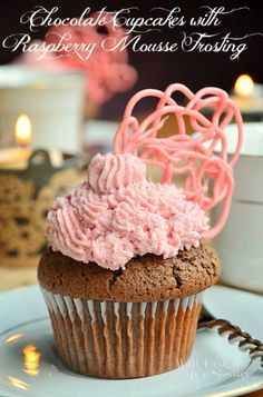 Chocolate Cupcakes & Raspberry Mousse Frosting | Plus hosting an elegant party | from willcookforsmiles.com