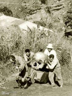 Giant human skull