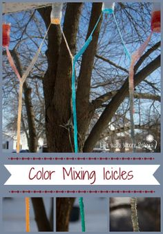 Life with Moore Babies: Color Mixing Icicles
