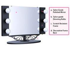 Starlet Lighted Tabletop Vanity Mirror
