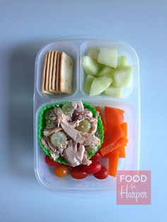 Today's lunch is for my husband. Melon chicken salad packed in @EasyLunchboxes containers