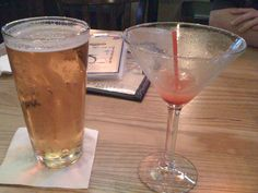Abita Andygator. Always a good choice. Never mind the empty martini... I couldn't decide which drink to have, so I got both :D