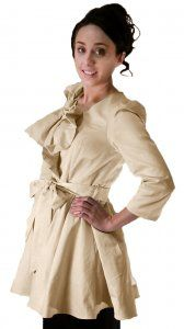 Cream Jacket with Bow Detail - $59 at DCM Apparel; Limited Quantities