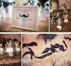 mustache escort cards #wedding