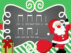 JOLLY OLD SAINT NICHOLAS: A TRADITIONAL CHRISTMAS SONG FOR TEACHING HALF NOTE - TeachersPayTeachers.com