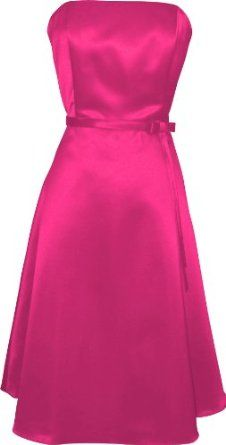 50's Strapless Satin Formal Bridesmaid Prom Dress Holiday Gown --- http://www.pinterest.com.mnn.co/2qf