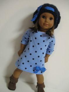 American Girl Doll ClothesBlue Dot by 123MULBERRYSTREET on Etsy, $25.00
